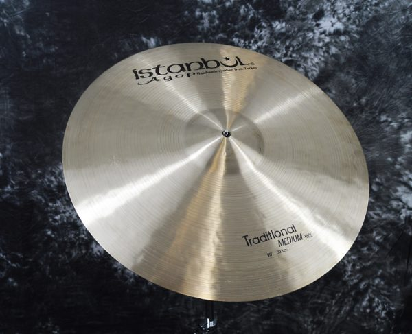 "traditional20mediumride1 600x487 - سنج راید ۲۰ اینچ استانبول آگوپ سری Istanbul Agop Traditional 20"" Ride"